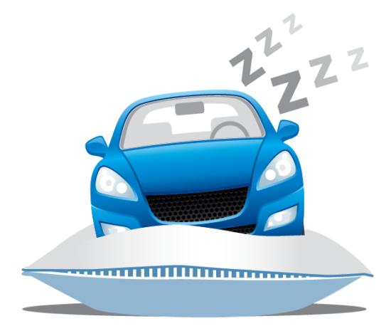 voiture qui dort