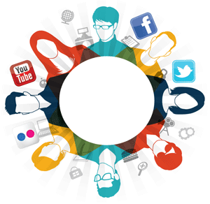 logo des médias sociaux de la ville
