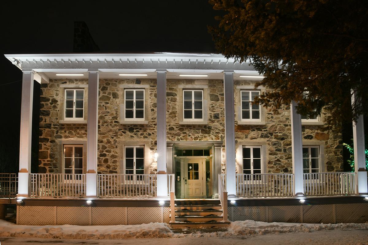 Nouvel éclairage architectural du Centre d'exposition du Vieux Presbytère