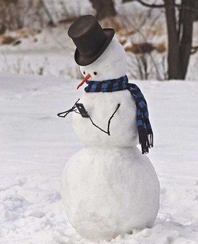 Concours de bonhommes ou de constructions de neige