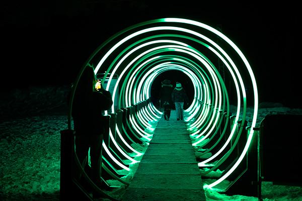 Promenade illuminee