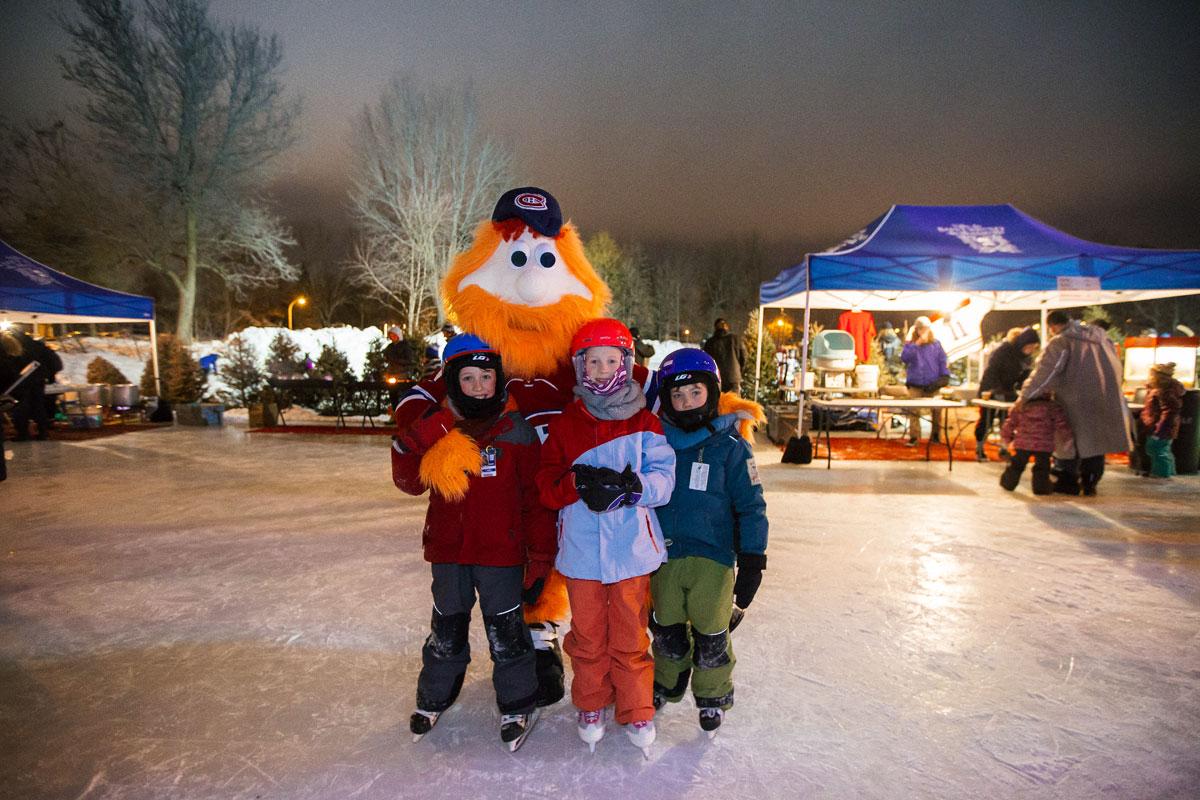 Patinage libre d'ambiance au profit de la Fondation des Canadiens pour l'enfance, Lac du Village, Saint-Bruno, 17 février 2018